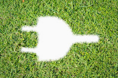 Groene de machtsstop van het grasembleem Royalty-vrije Stock Fotografie