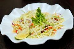 Groene de mangosalade van Thailand Royalty-vrije Stock Afbeeldingen