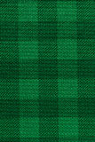 Groene de textuurachtergrond van de plaidstof Royalty-vrije Stock Foto's