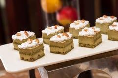 Groene de theecake van Matcha Royalty-vrije Stock Foto