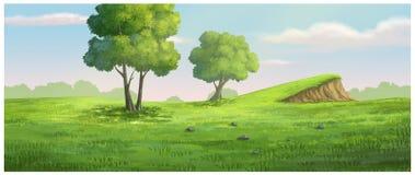 Groene de tuin als achtergrond heeft een hoop Stock Illustratie