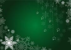 Groene de winterachtergrond Royalty-vrije Stock Afbeeldingen
