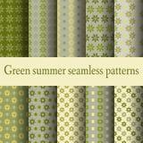 Groene de zomer naadloze patronen Royalty-vrije Stock Foto