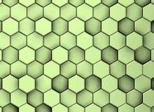 Groene decoratieve oppervlakteachtergrond in verschillende niveaus, met schaduwen vector illustratie