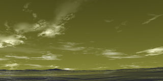 Groene Desktop royalty-vrije illustratie