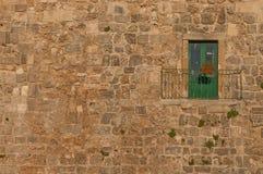 Groene deur Royalty-vrije Stock Afbeeldingen