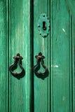 Groene deur Stock Afbeeldingen