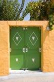 Groene deur Stock Foto