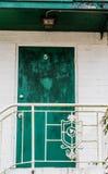 Groene Deur aan Nummer Vijf stock afbeelding
