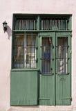 Groene deuren Royalty-vrije Stock Afbeeldingen