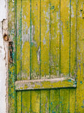 Groene deuren Houten Textuur Oude sjofele, bestraalde verf Royalty-vrije Stock Fotografie