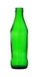 Groene die Glasfles op witte achtergrond wordt geïsoleerd Royalty-vrije Stock Foto