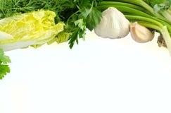 Groene die groenten op wit worden geïsoleerd Royalty-vrije Stock Fotografie