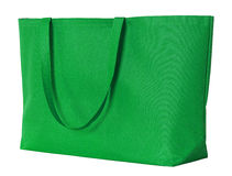 Groene die het winkelen zak op wit wordt geïsoleerd Royalty-vrije Stock Afbeelding