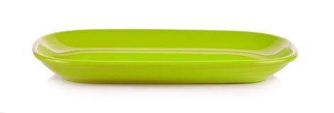 Groene die kom op een witte achtergrond wordt geïsoleerd Royalty-vrije Stock Afbeelding