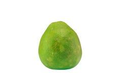 Groene die pompelmoescitrusvruchten op witte achtergrond worden geïsoleerd Stock Foto