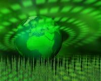 Groene digitale planeet Royalty-vrije Stock Foto