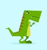 Groene Dino in actie Royalty-vrije Stock Fotografie