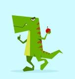 Groene Dino in actie Royalty-vrije Stock Afbeelding