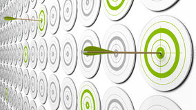Groene doelstellingen stock illustratie