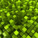 Groene dozenachtergrond Stock Foto