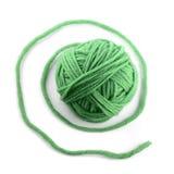Groene draadbal Stock Afbeelding