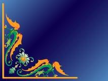 Groene draak. Stock Afbeeldingen