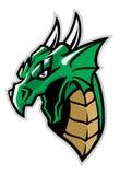 Groene draak hoofdmascotte vector illustratie