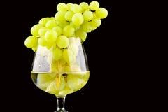Groene druivenclose-up Royalty-vrije Stock Afbeelding