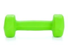 Groene dumbell Stock Afbeelding