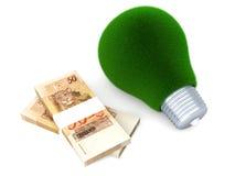 Groene Echte energiezaken - vector illustratie