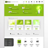 Groene eco professionele website Royalty-vrije Stock Afbeeldingen