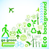 Ga groene kaart Royalty-vrije Stock Foto's