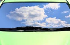 Groene ecoauto's Royalty-vrije Stock Foto's