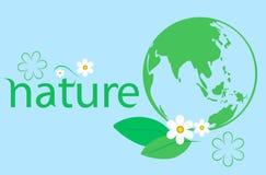 Groene ecologieachtergrond royalty-vrije illustratie