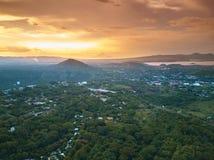 Groene ecoloical stad Managua Royalty-vrije Stock Afbeeldingen