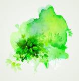 Groene ecosamenvatting Stock Foto's