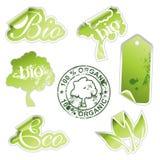 Groene ecostickers vector illustratie