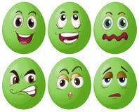 Groene eieren royalty-vrije illustratie