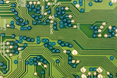 Groene elektronische kringen Royalty-vrije Stock Foto's