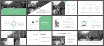Groene elementen van infographics voor minimalistisch ontwerp Royalty-vrije Stock Foto's