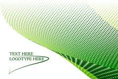 Groene embleemachtergrond Stock Fotografie