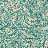 Groene en beige bladeren Stock Afbeelding