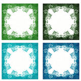 Groene en blauwe achtergronden Royalty-vrije Stock Foto