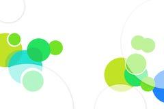 groene en blauwe bellen, abstrack achtergrond Stock Foto