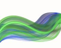 Groene en blauwe fractal. vector illustratie
