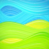 Groene en blauwe golfachtergrond Stock Foto
