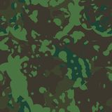 Groene en bruine boscamouflage Stock Fotografie