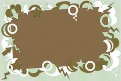 Groene en Bruine Retro Achtergrond Stock Foto's