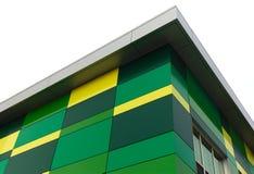 Groene en gele de bouwachtergrond stock foto